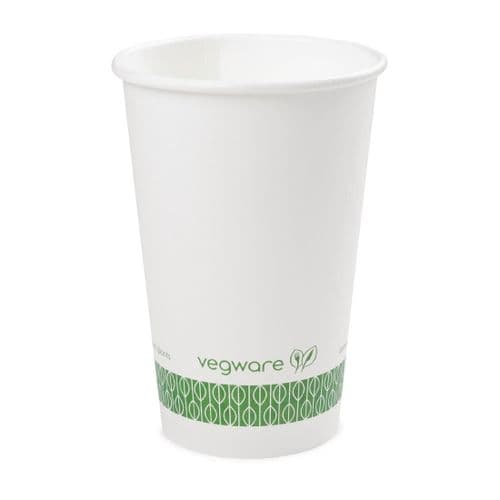 Vegware Compostable Hot Cups White 455ml / 16oz (Pack of 1000)